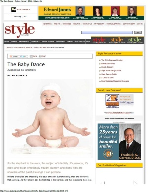 Baby Dance article on infertility with Dr. Zeringue fertility specialist Davis and Roseville California