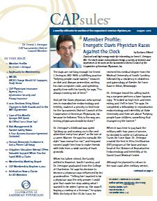 Dr. Zeringue featured in the CAP/MPT Capsules Newsletter for members